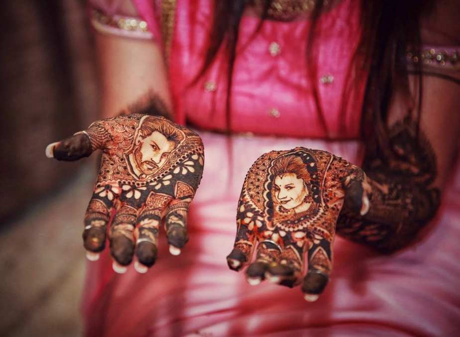 Mehndi Design Couple Hands : Divyanka tripathi s haldi and mehendi south india fashion