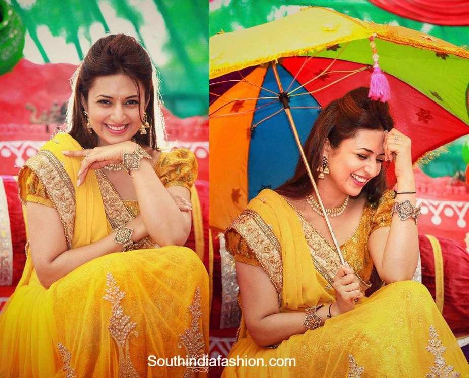divyanka tripathi ishita haldi yellow lehenga - Traditional 6th Wedding Anniversary Gift Ideas