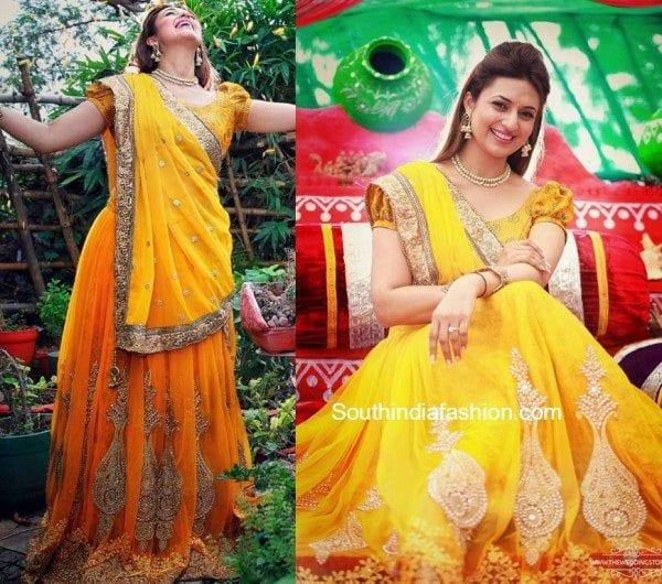 Divyanka Tripathi S Haldi And Mehendi South India Fashion