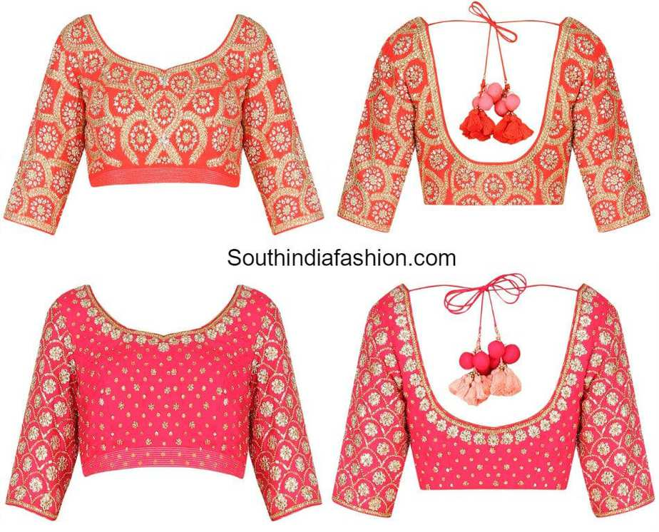 Stone Work Blouse Designs South India Fashion