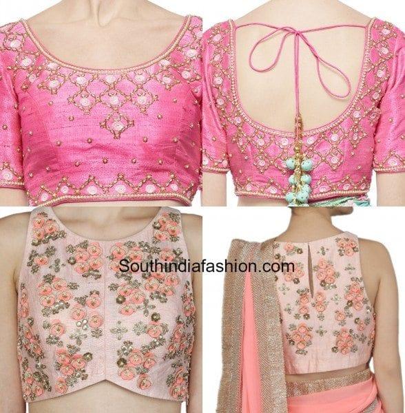 Designer Embroidered Blouses Online 71