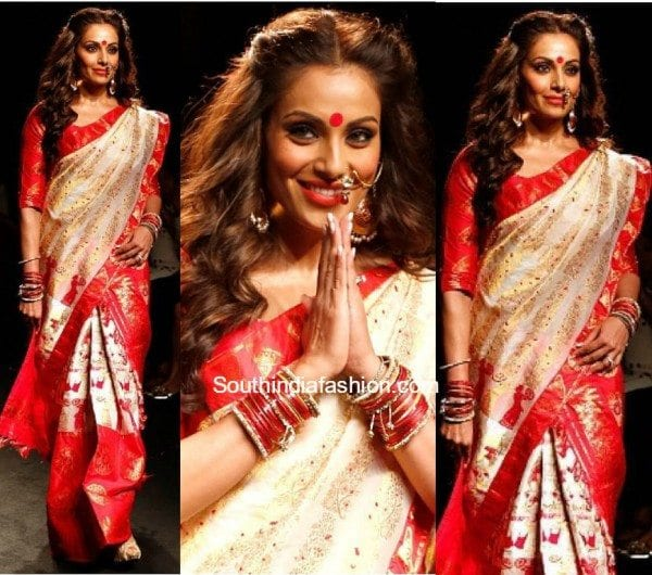 Bipasha Basu for Sanjukta Dutta at Lakme Fashion Week 2016