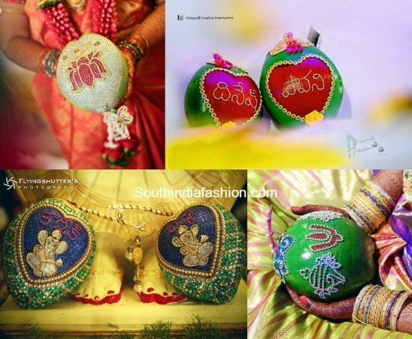 Coconut Decorations for south indian weddings