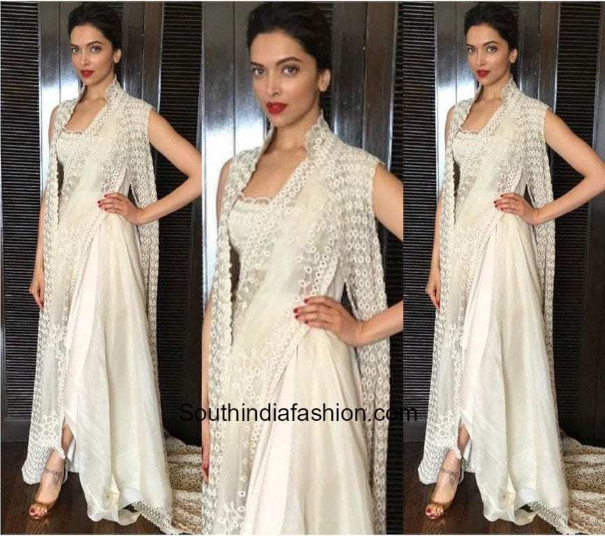 Deepika Padukone in Anamika Khanna –South India Fashion