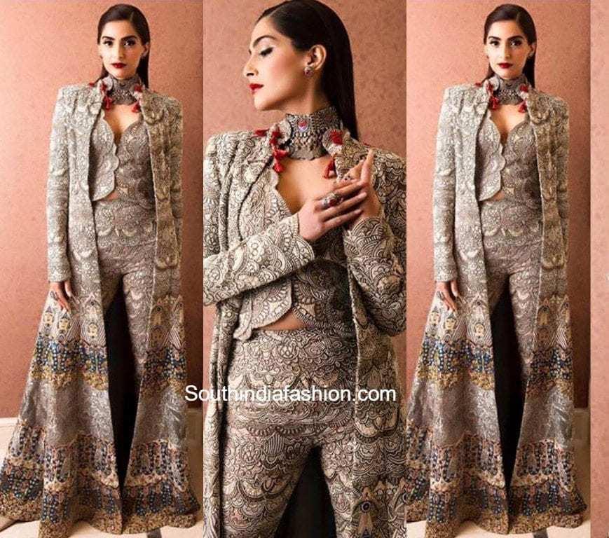 sonam kapoor in anamika khanna �south india fashion