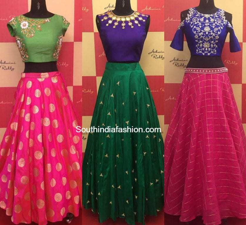 Designer Long Skirts and Crop Tops by Ashwini Reddy • South India ...