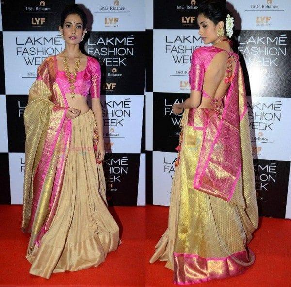 srah_jane_gaurang_shah_saree_lakme_fashion_week