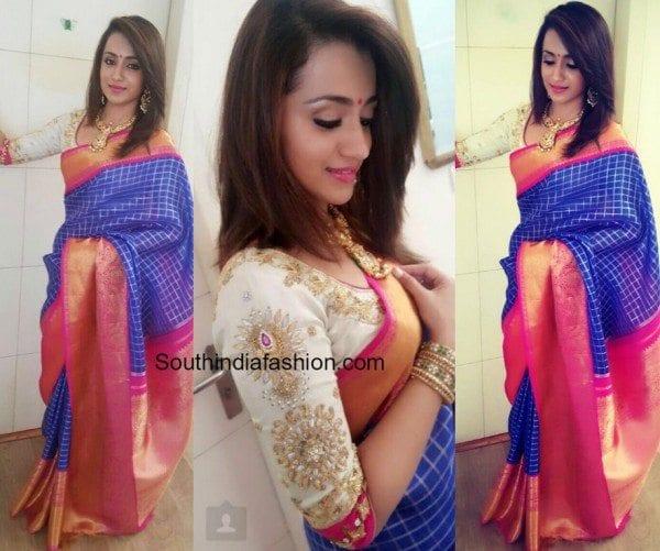 trisha krishnan kanjeevaram saree nac store 600x501