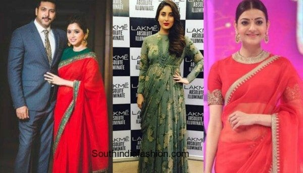 aarthi_kareena_kajal_sabyasachi_saree_dress