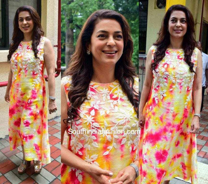 Juhi Chawla S Ethnic Look South India Fashion