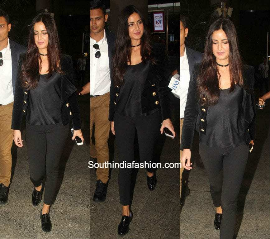 Katrina Kaif's Airport Look - South India Fashion