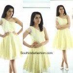 Raashi Khanna in an yellow dress