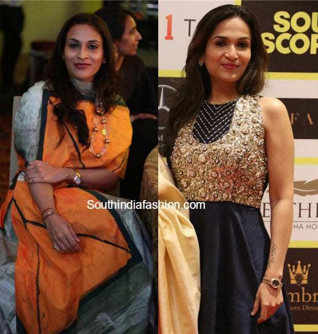 Aishwarya Dhh And Soundarya Rajinikanth At South Scope Lifestyle Awards India Fashion