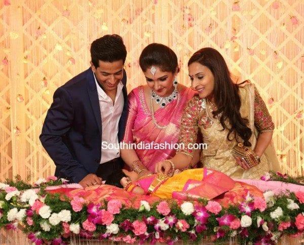 aishwarya_dhanush_pattu_saree_cradle_ceremony