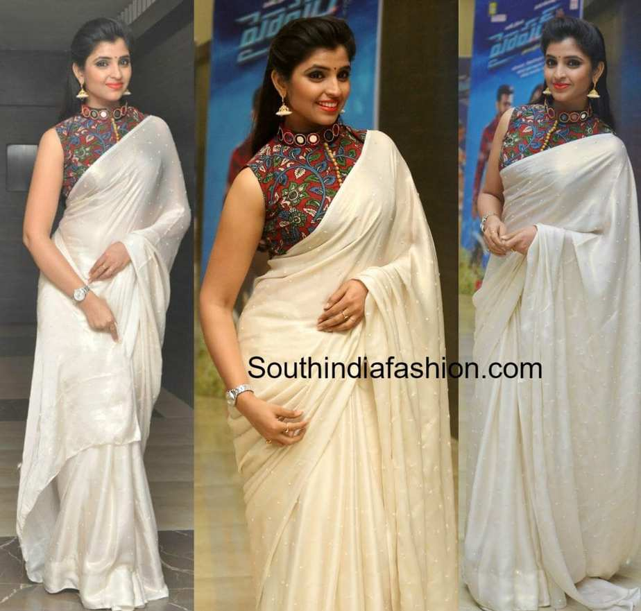1c806d26a0f318 anchor syamala kalamkari blouse hyper trailer launch  anchor syamala kalamkari saree blouse Anchor Syamala ...