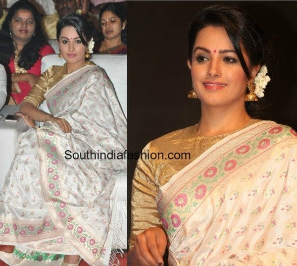 anita hassanandini manalo okadu audio function saree photos 600x537