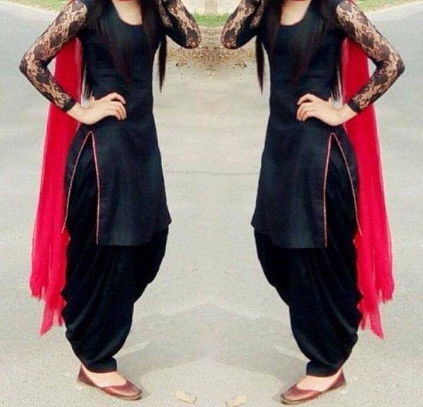 Beautiful patiala salwar kameez designs south india fashion for New design pic