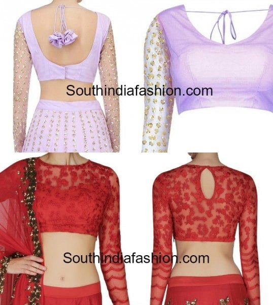 blouse_designs_with_net_sleeves
