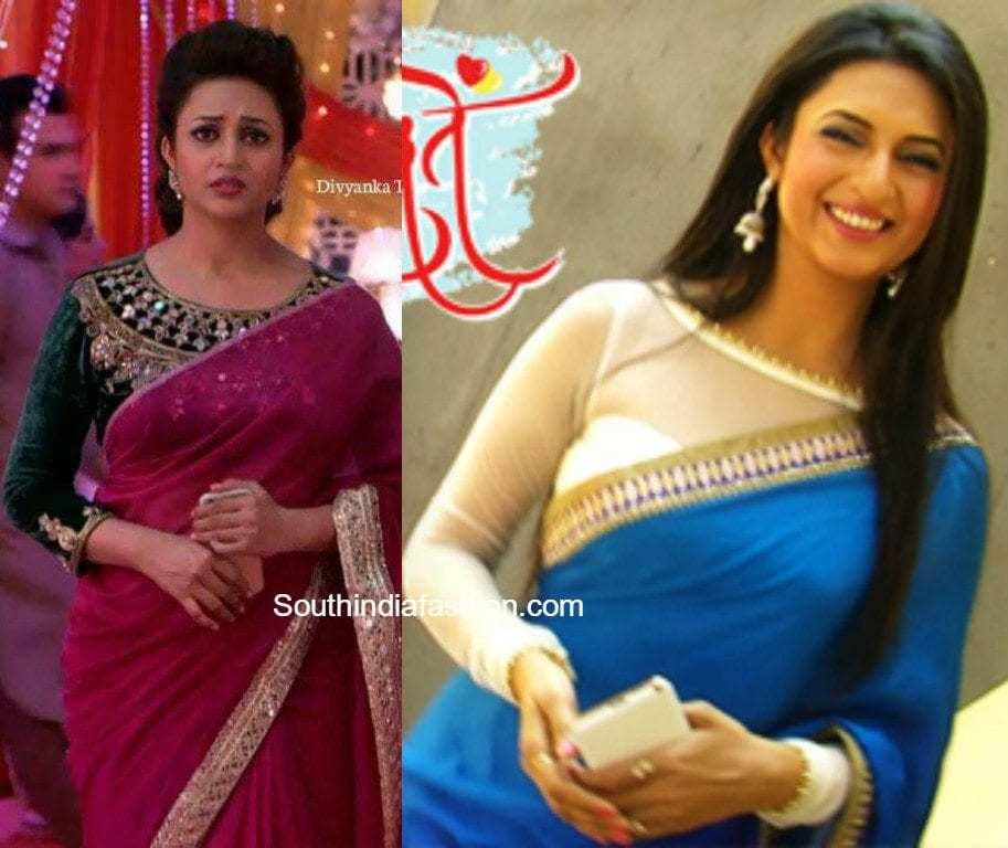 divyanka tripathi ishita saree blouse designs in yeh hai