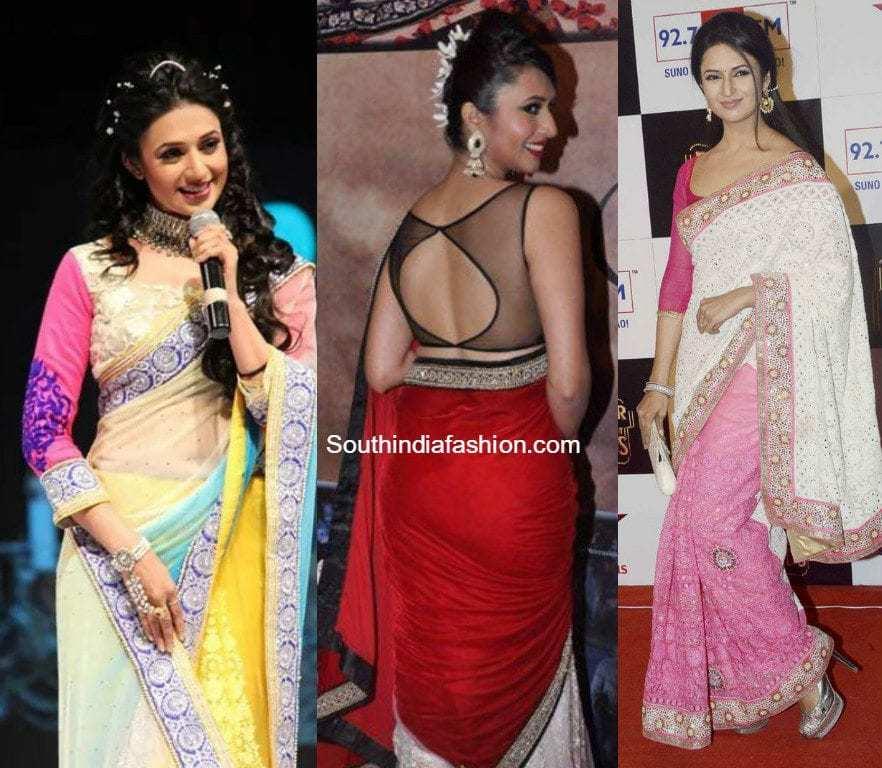 Divyanka Tripathi (Ishita) Saree Blouse Designs in Yeh Hai ...