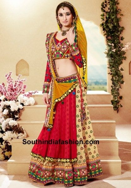 13 Amazing Navratri Dandiya Lehenga Choli Designs South