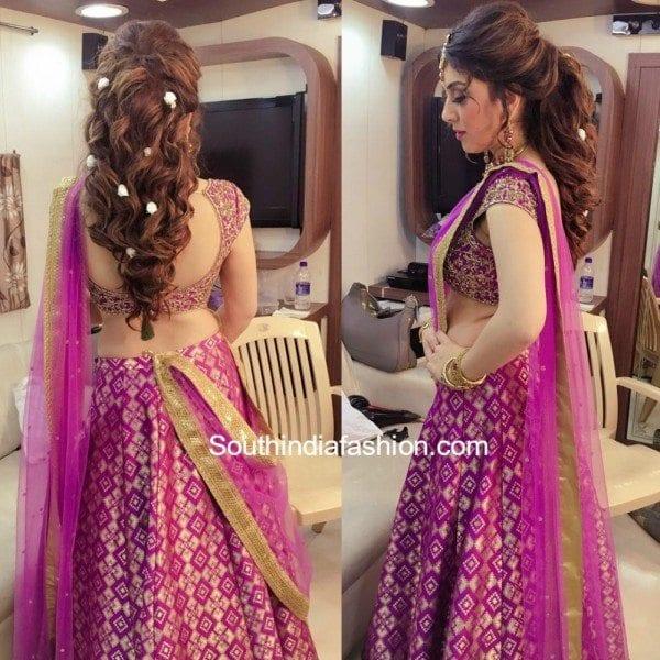 Hansika In A Half Saree South India Fashion