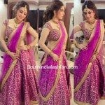 Hansika in a half saree