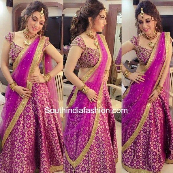 hansika_pink_lehenga_saravana_stores_ad