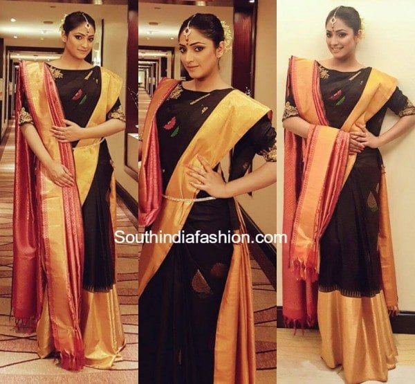 haripriya_black_silk_saree_mysore_fashion_week