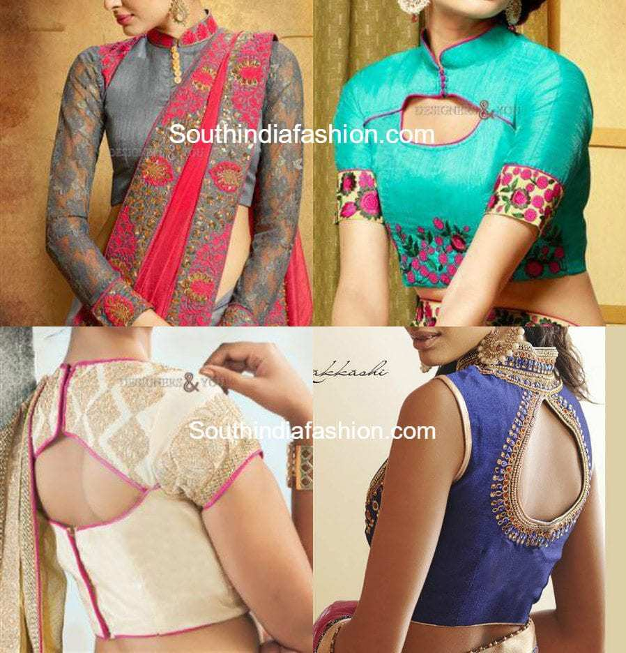Stylish saree blouse designs style news fashion trends for Current wallpaper trends 2016