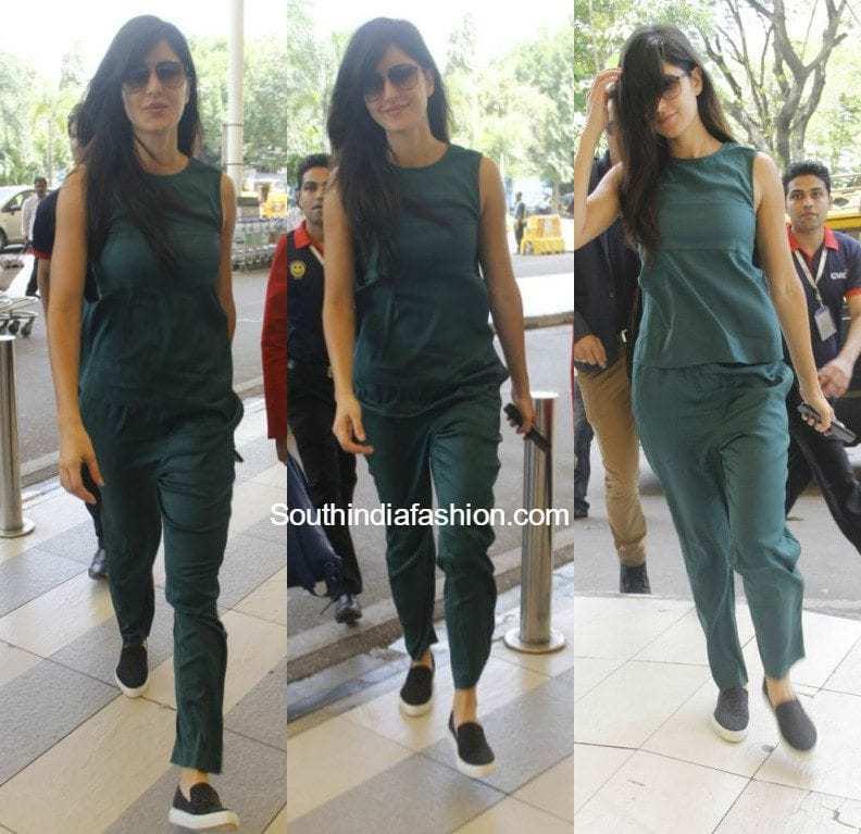 Katrina Kaif 39 S Airport Style South India Fashion