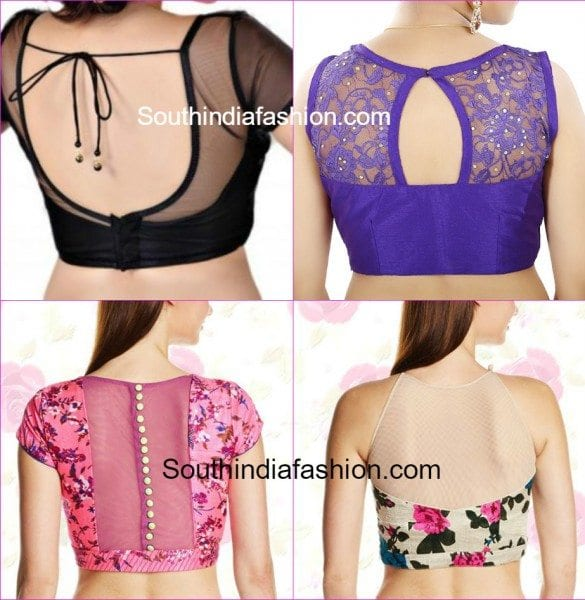 Stunning Net Blouse Designs –South India Fashion
