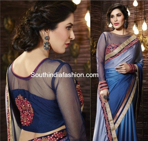 net_blouse_for_sarees