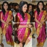 Nivetha Thomas in a kanjeevaram saree