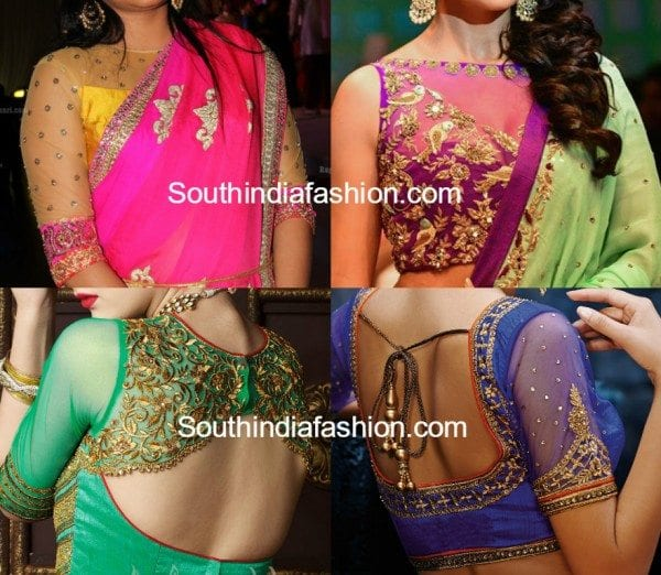 partywear_net_blouse_designs