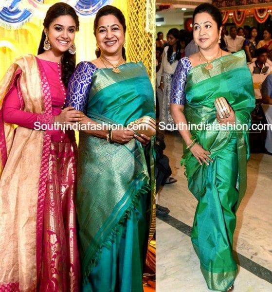 radhika_sarathkumar_keerthysuresh_sister_wedding_reception