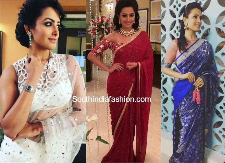 shagun aka anita hassanandini sarees and blouse designs