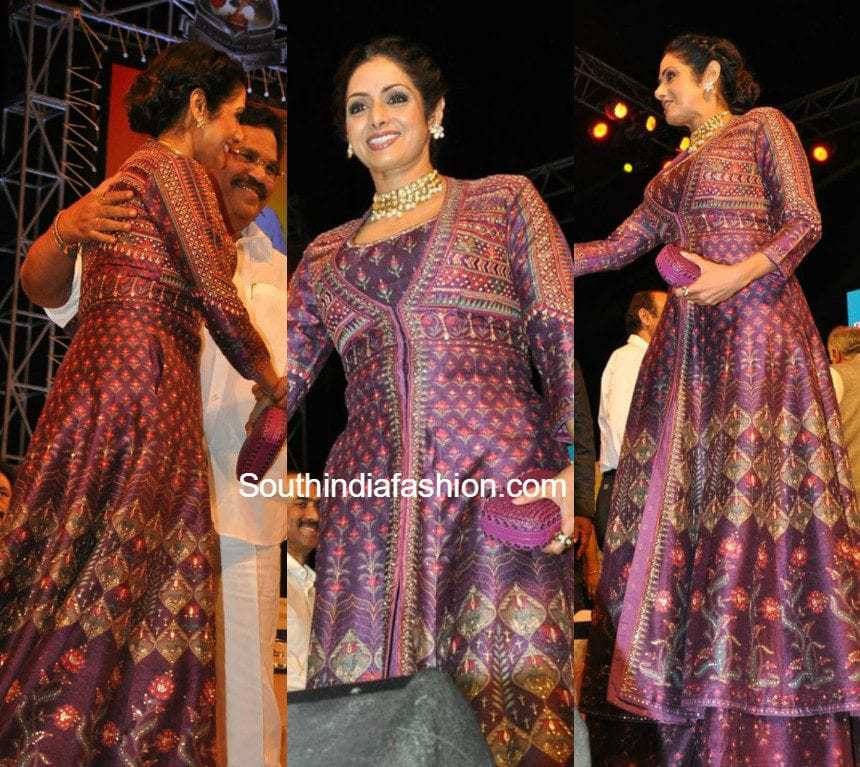 Sridevi kapoor in anita dongre south india fashion
