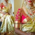 Zardosi Work Blouse for Wedding Silk Sarees