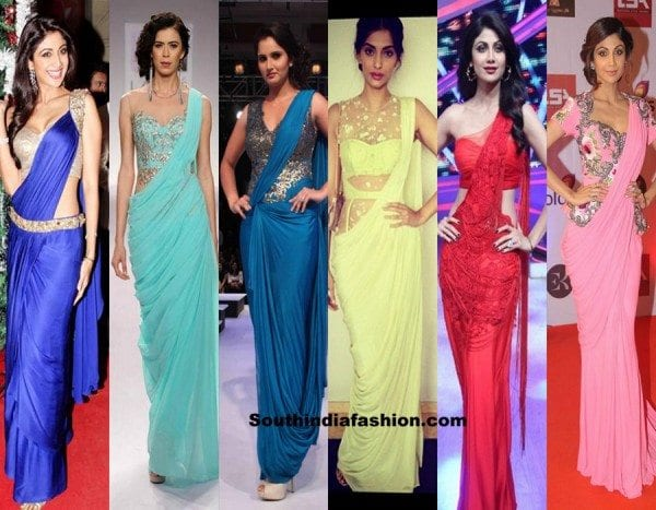 bollywood-actress-saree-gowns-style