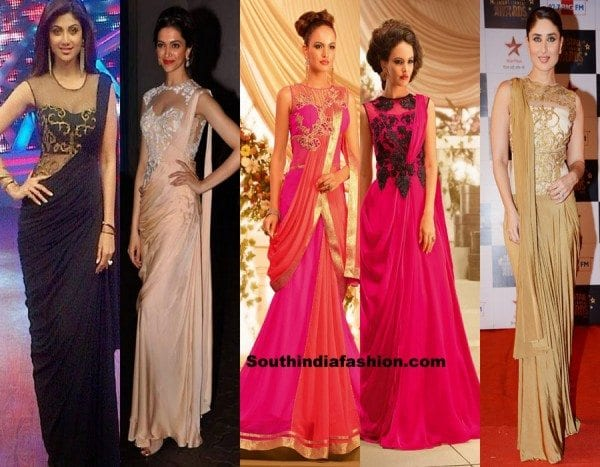 saree-gown-designs