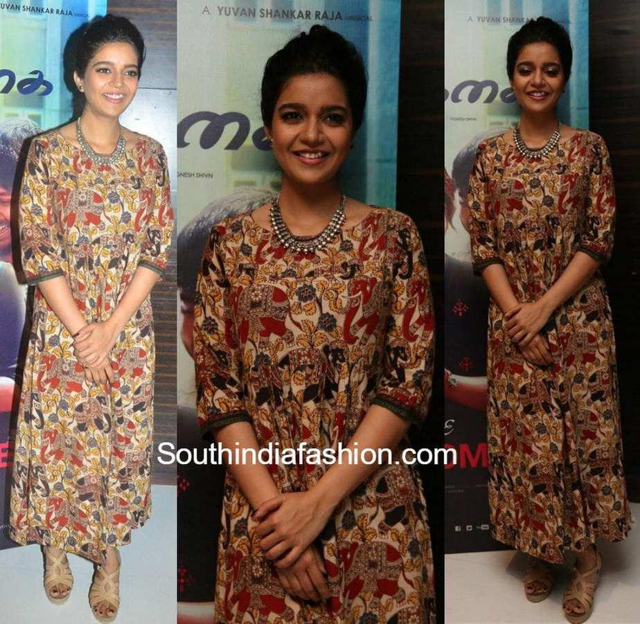 swathi reddy in a kalamkari maxi dress south india fashion