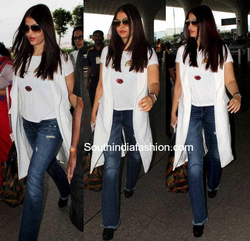 Aishwarya Rais Airport Look South India Fashion