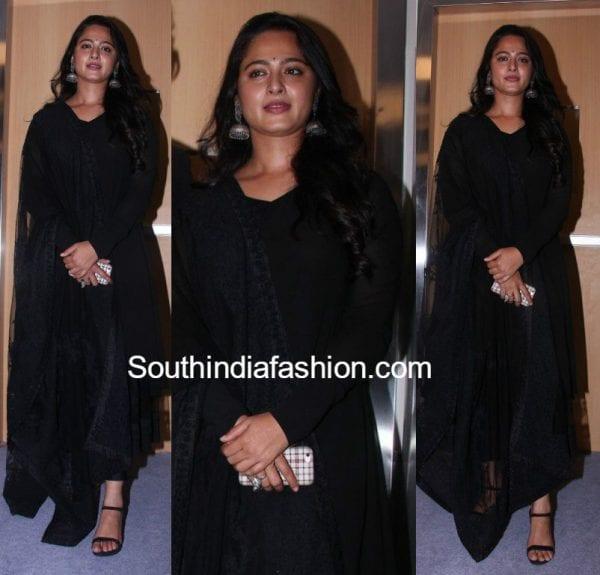 Anushka Shetty in Sabyasachi at Baahubali 2 First Look Launch