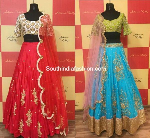 ashwiniReddy designer half sarees 600x552