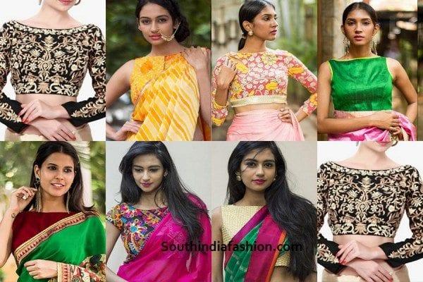 boat-neck-saree-blouse-design