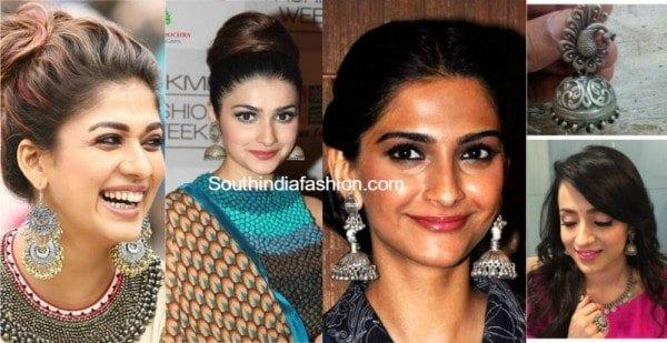 celebrities_oxidised_silver_earrings