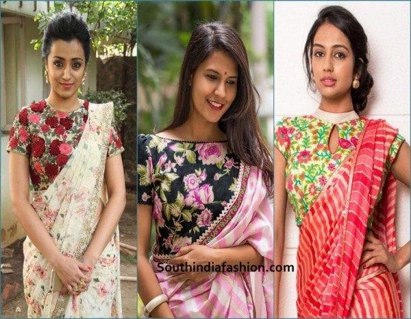 bridal blouse designs-floral