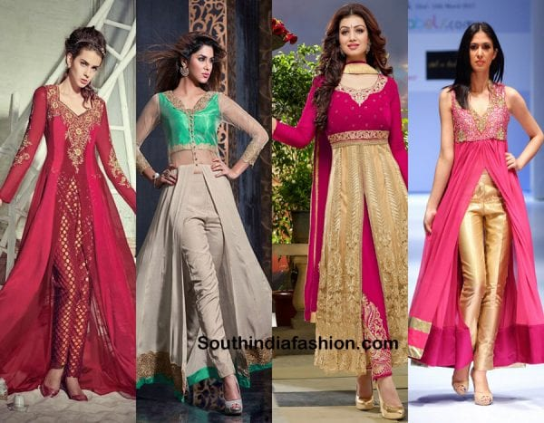 So try out these anarkali styles for the upcoming diwali parties and