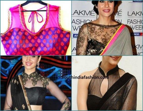 net-high-neck-blouse-design